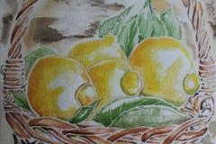 Limoni Cesto Acquerello 55x40