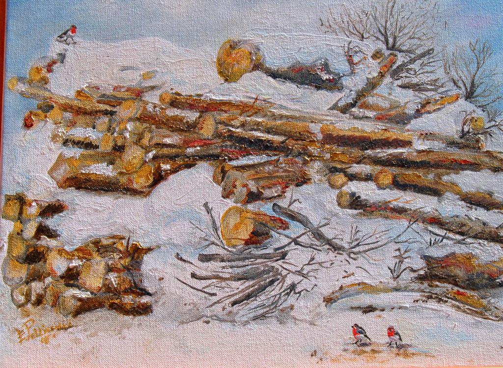 La legnaia olio su tela 45x35 - 2008