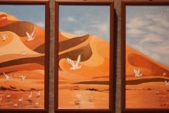 Dune tre pannelli olio su tela 60x30 - 2008