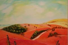 Paesaggio sardo olio su tela 50x35 - 2008