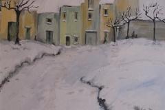 Paesaggio invernale 50x70 olio su tela - 1980 collezione privata