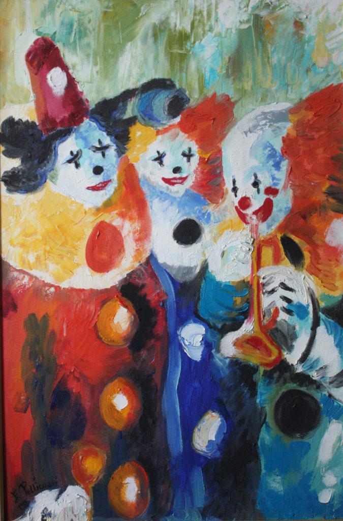Clown olio su tela tecnica a spatola - 2009