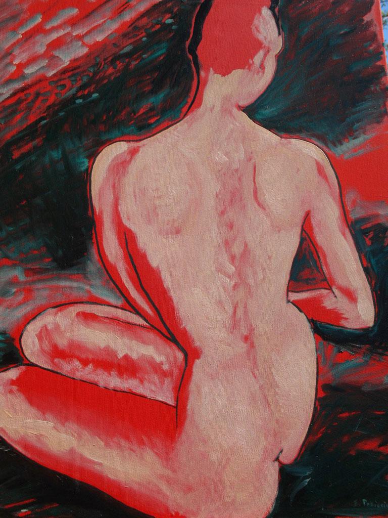 Donna Cinese olio su tela 40X70 - 1996
