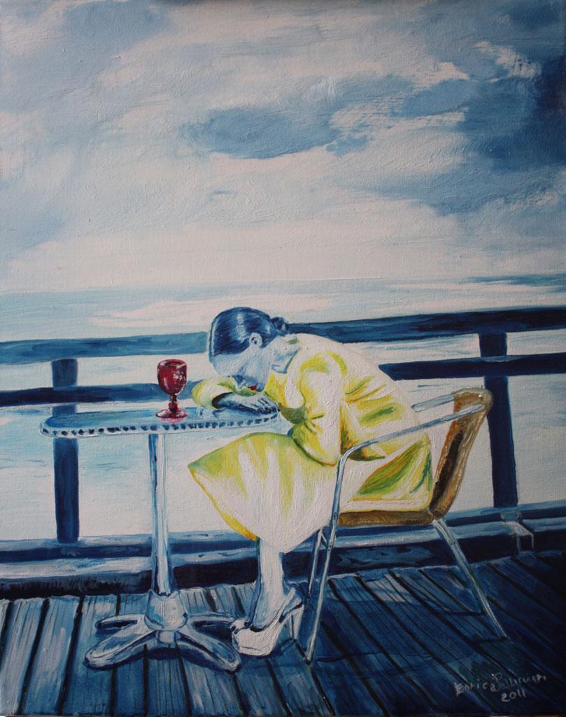 L'Attesa olio su tela 50x40 - 2011