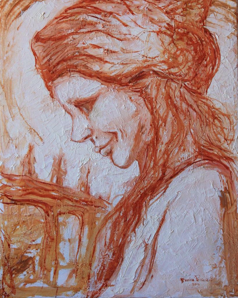 Ritratto olio su tela spatola 50x40 - 2014