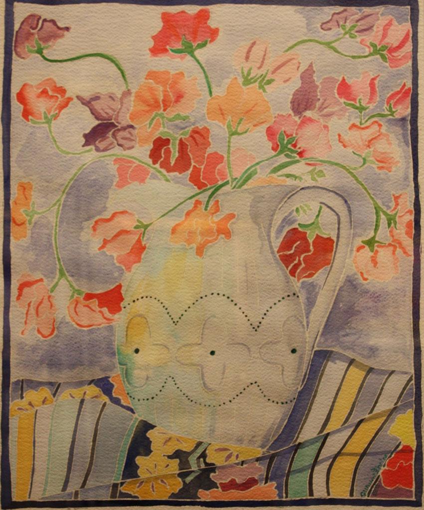 Vaso con fiori Acquerello 50x70 - 2008
