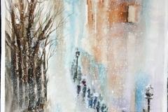 Impressioni d'inverno Acquerello 56x38 - 2015