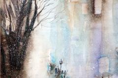 impressioni d'inverno studio 25x35 Acquerello - 2015