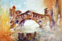 Venezia Ponte di Rialto Acquerello 39x28 - 2015