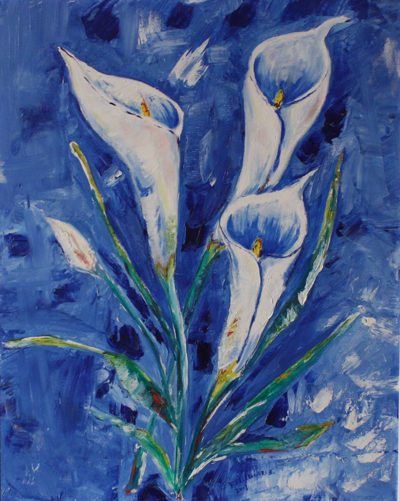 Calle olio su tela tecnica a spatola 50x40 - 2003 collezione privata