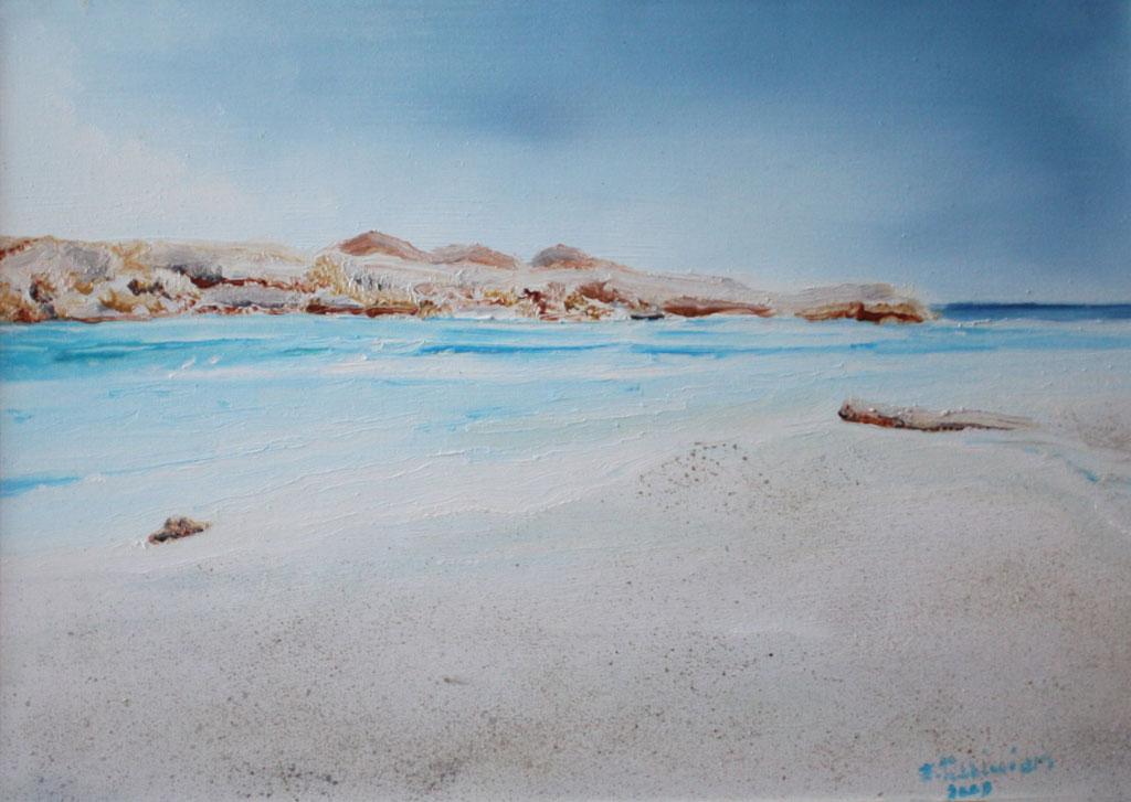 Egitto - il lago magico olio su tela 35x25 - 2009