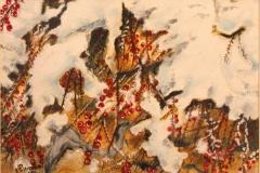 Bacche rosse olio su tela 35x25 - 2008 collezione privata