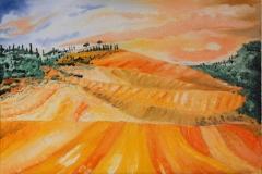 Toscana olio su tela 50X35 - 2008