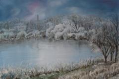 Gelata sul Po olio su tela 50x35 - 2008
