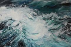 Oceano mare olio su tela 70x60 - 1982