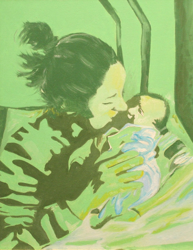 Maternita' olio su tela 45x35 - 2008