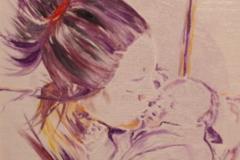 Maternita' olio su tela 40x30 - 2008