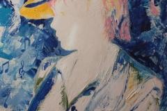 Note di Blu cobalto olio su tela spatola 50x35 - 2010