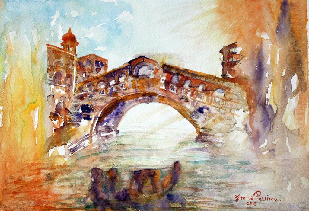 Venezia-Ponte-di-Rialto-Acquerello-39x28-2015
